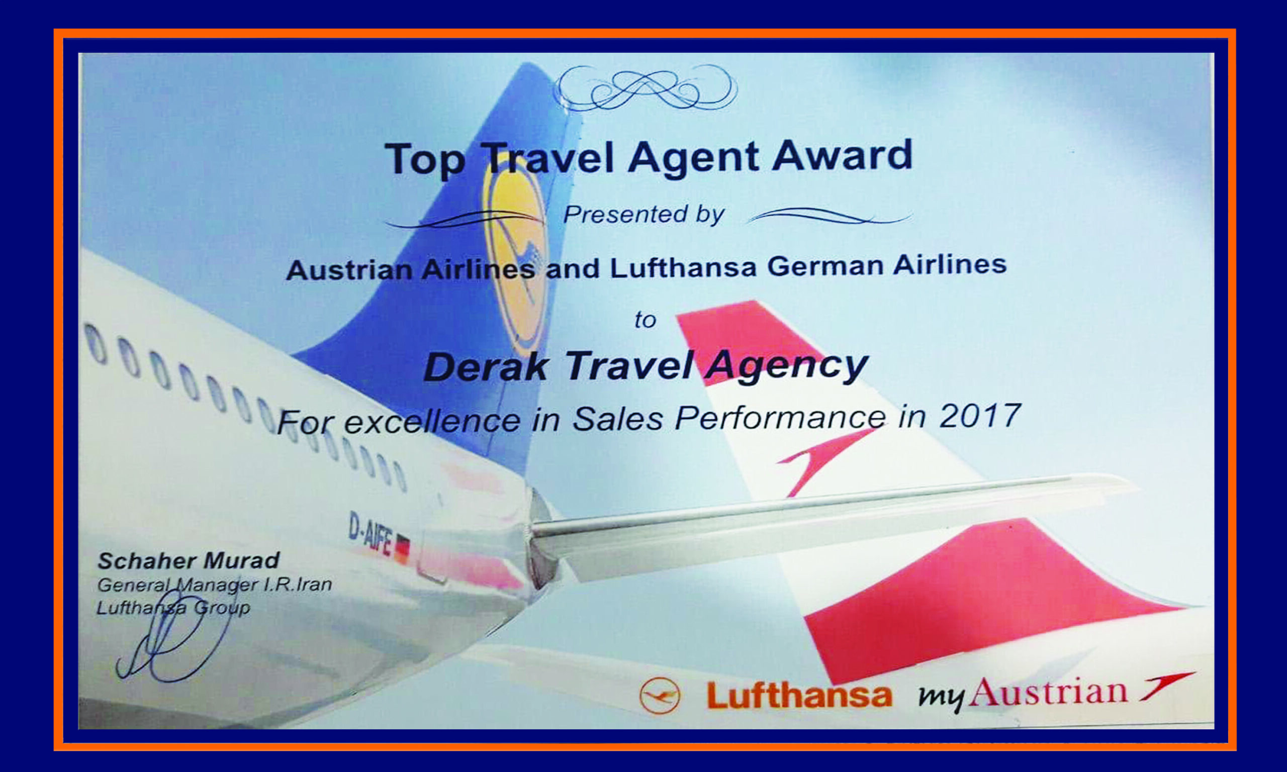 Lufthansa derak award